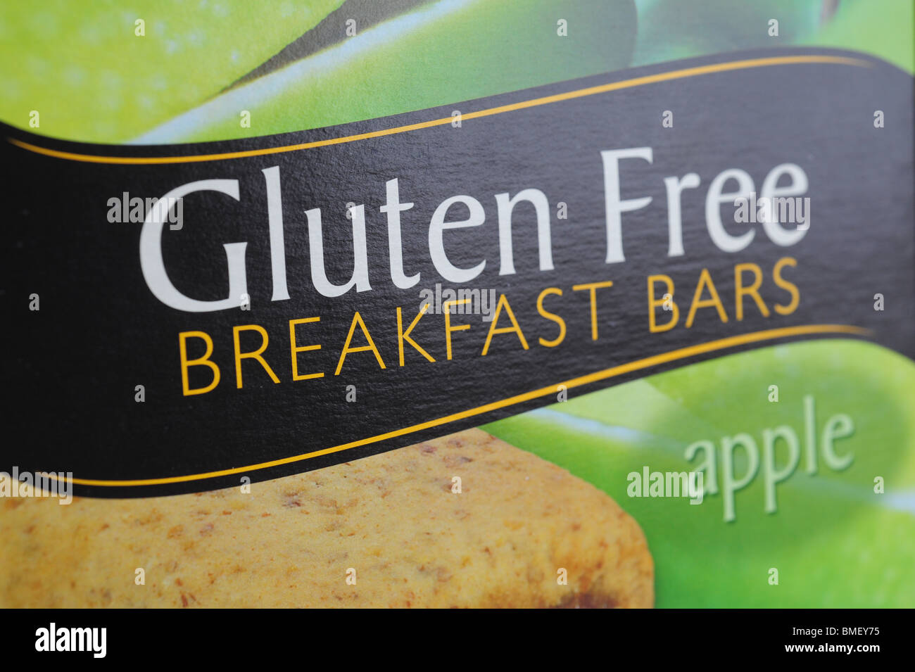 Gluten free food products breakfast bars - Stock Image