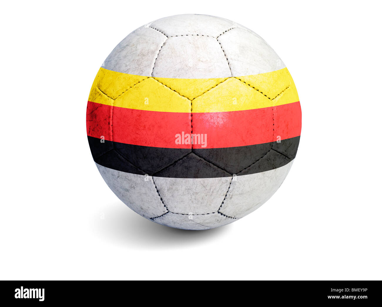 Soccer ball Germany Flag - Stock Image