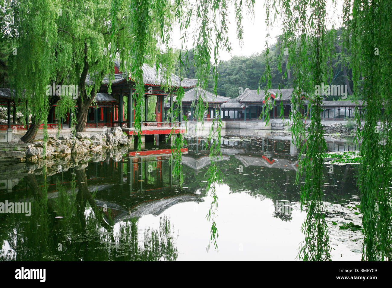 Garden of Harmonious Interests in the Summer Palace, Beijing, China - Stock Image