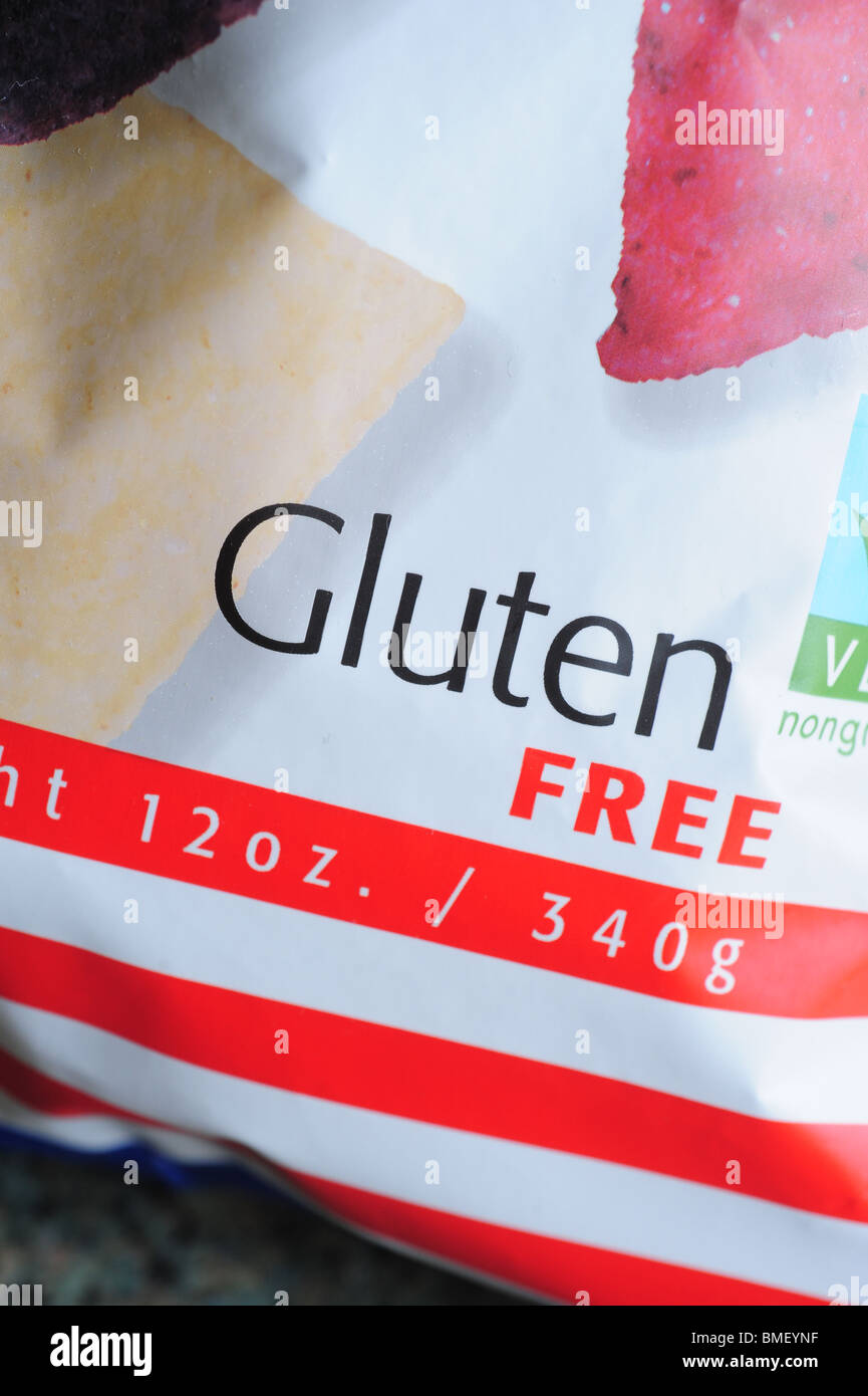 Gluten free food products Tortilla Chips - Stock Image