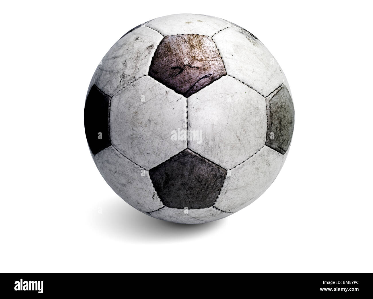 Soccer ball Telstar with shadow Stock Photo