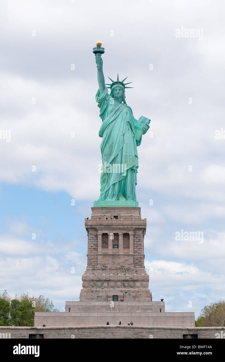 liberty bewrha york view statue photos of from new pedestal stock image tickets photo