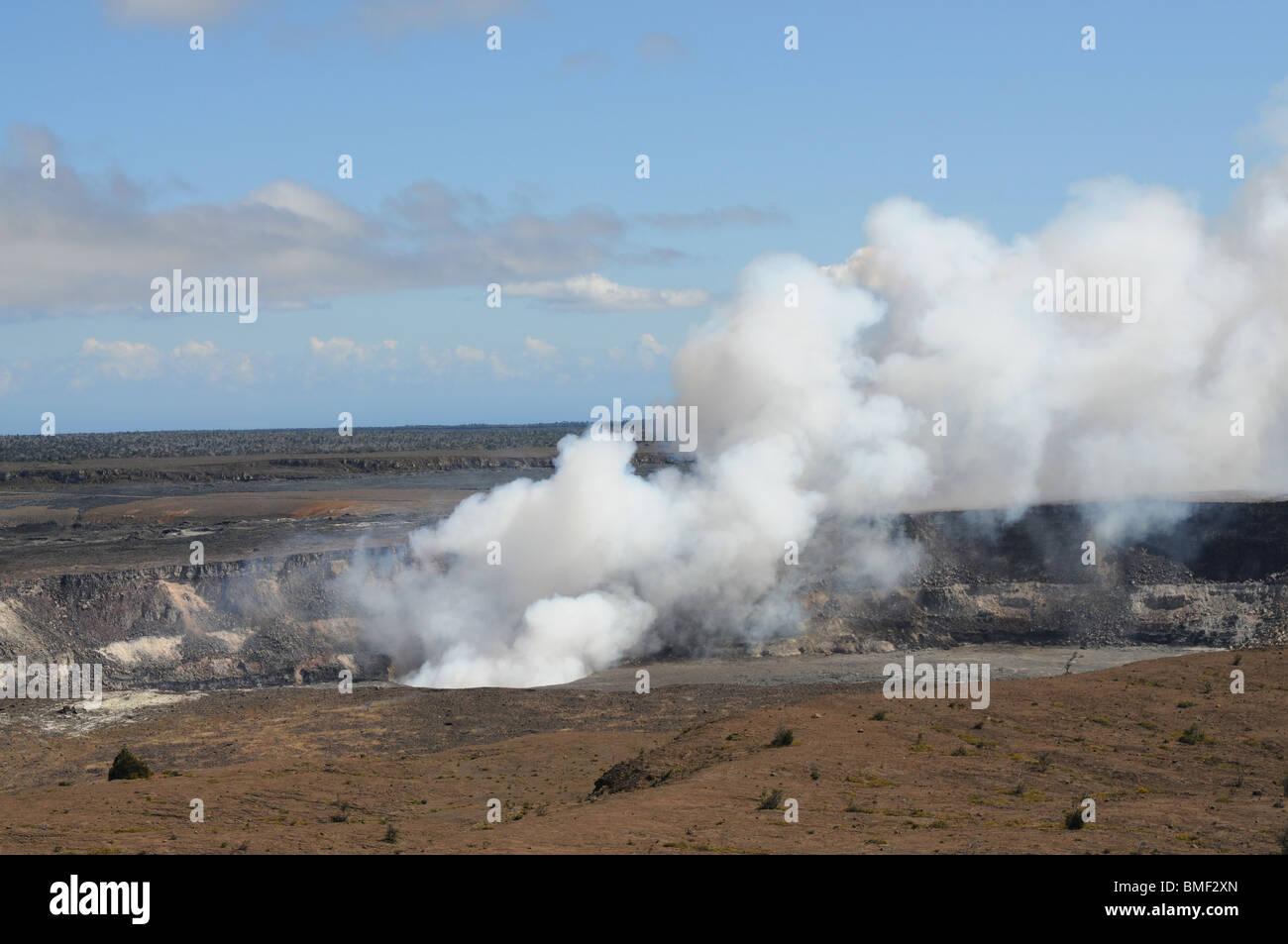 Kilauea volcano on the big island of Hawaii - Stock Image