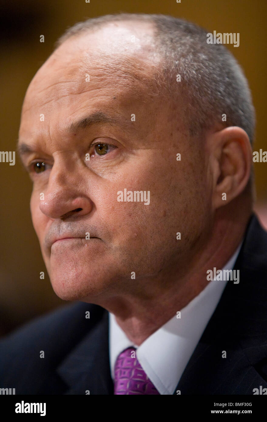 New York City Police Department Commissioner Raymond Kelly. - Stock Image