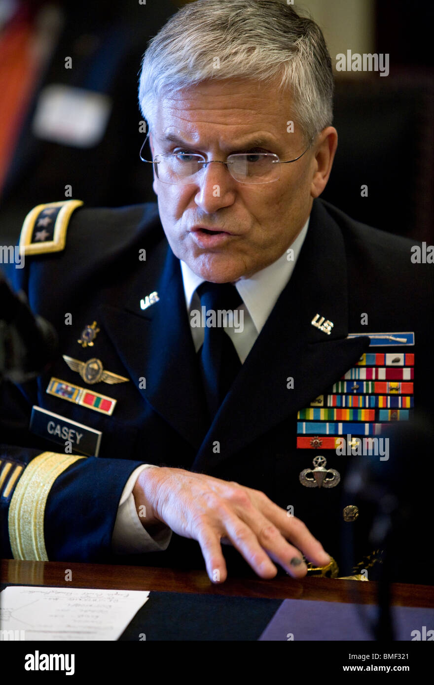 Army Chief of Staff General George Casey. - Stock Image