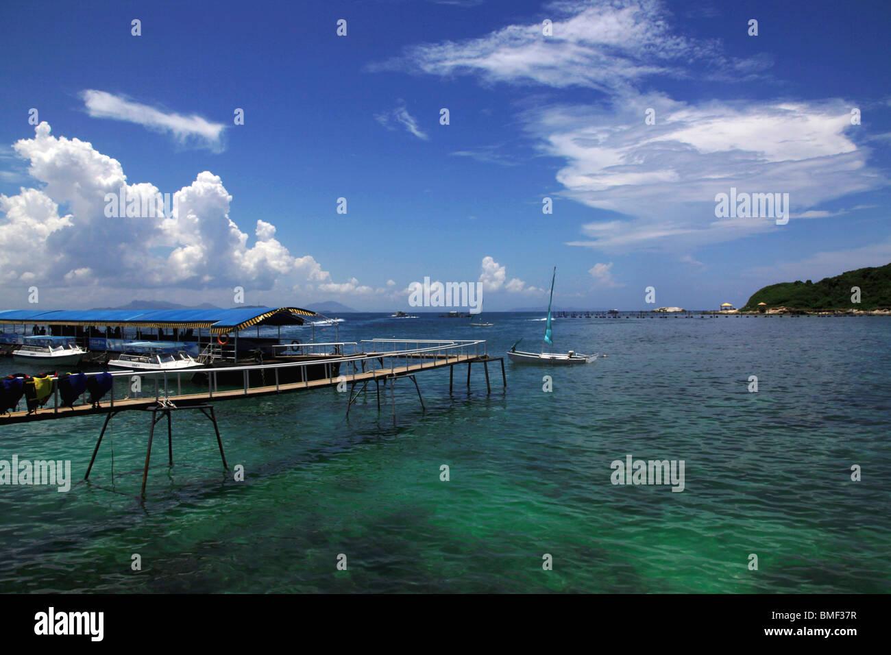 South China Sea, Sanya, Hainan Province, China Stock Photo ...