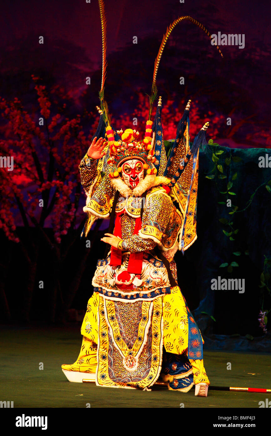 Beijing opera performer performing the Journey To The West, Beijing, China Stock Photo
