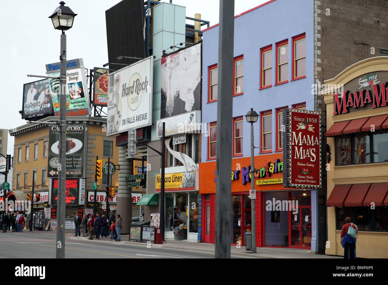 Buildings Downtown Niagara Fall Ontario Canada Stock