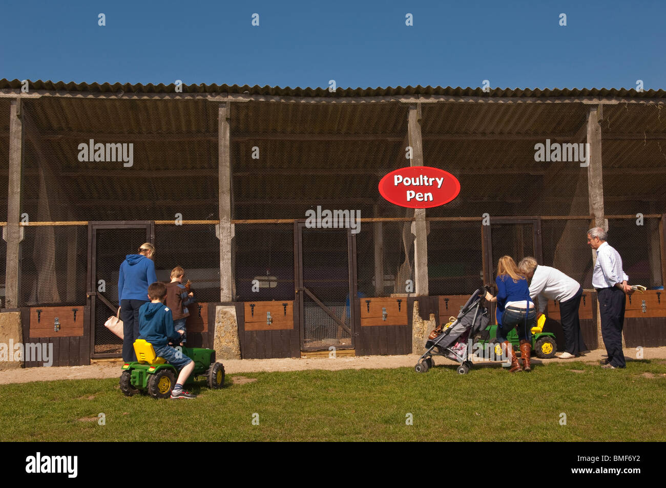 The Poultry Pen at Easton Farm Park in Easton , Woodbridge , Suffolk , England , Great Britain , Uk - Stock Image