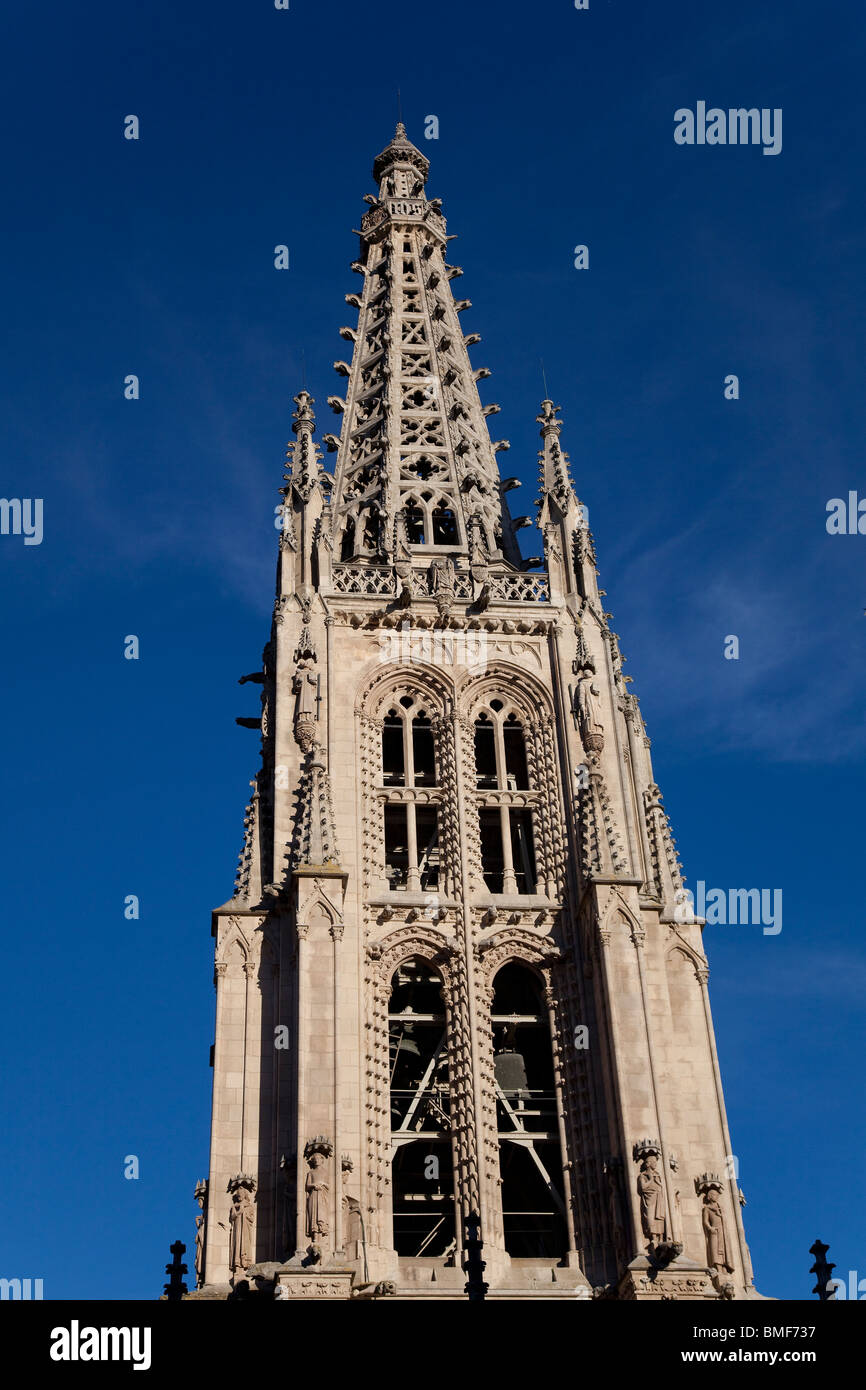 Tower of the Cathedral of Burgos, Castilla y Leon, Spain - Stock Image