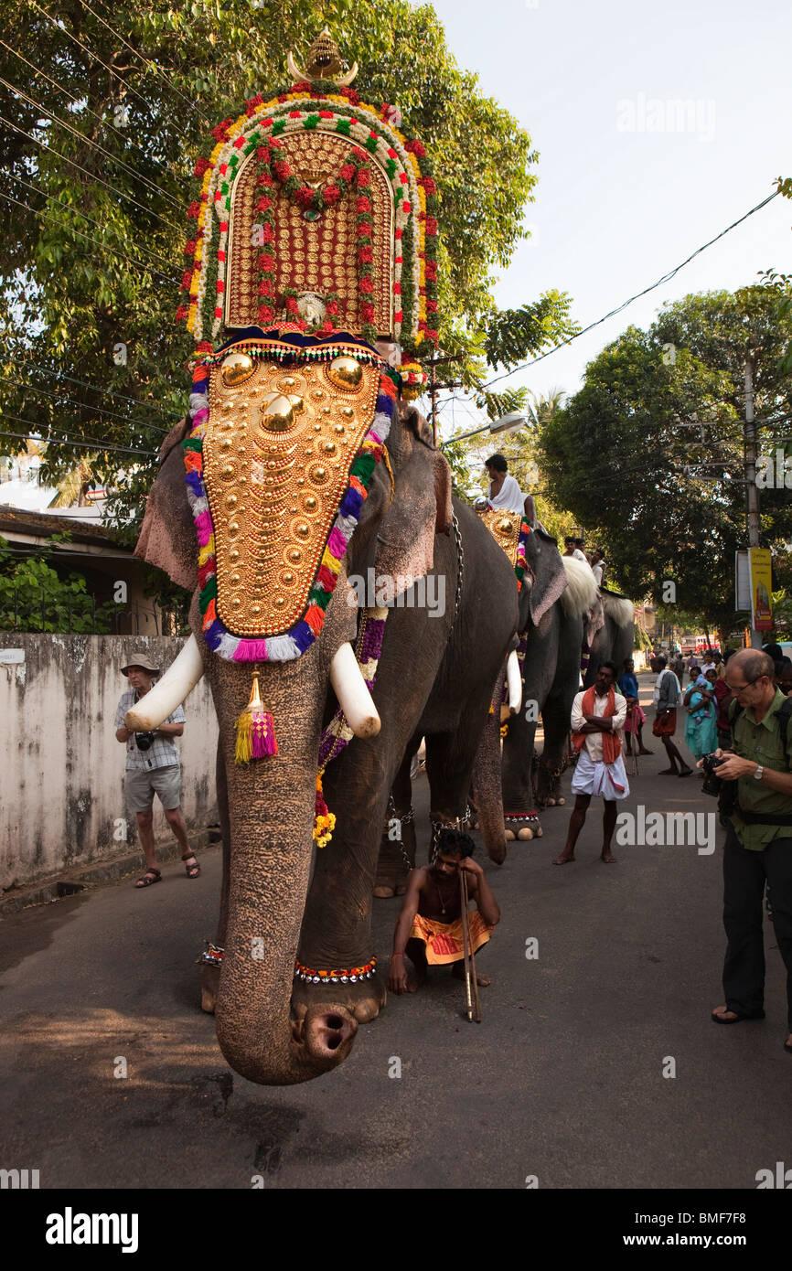 India, Kerala, Kochi, Ernakulam Uthsavom festival, Diwans ...