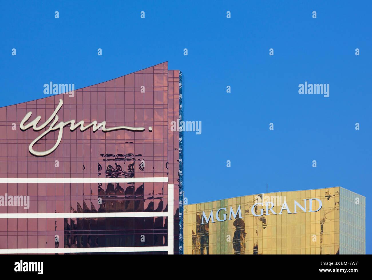 Wynn and MGM casinos; Macau; China - Stock Image