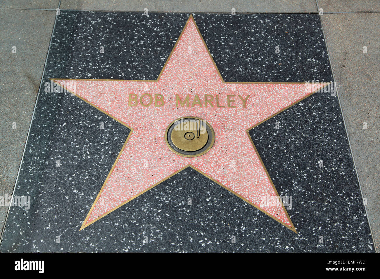 bob marley star hollywood walk of fame hollywood boulevard los stock photo 29838969 alamy. Black Bedroom Furniture Sets. Home Design Ideas