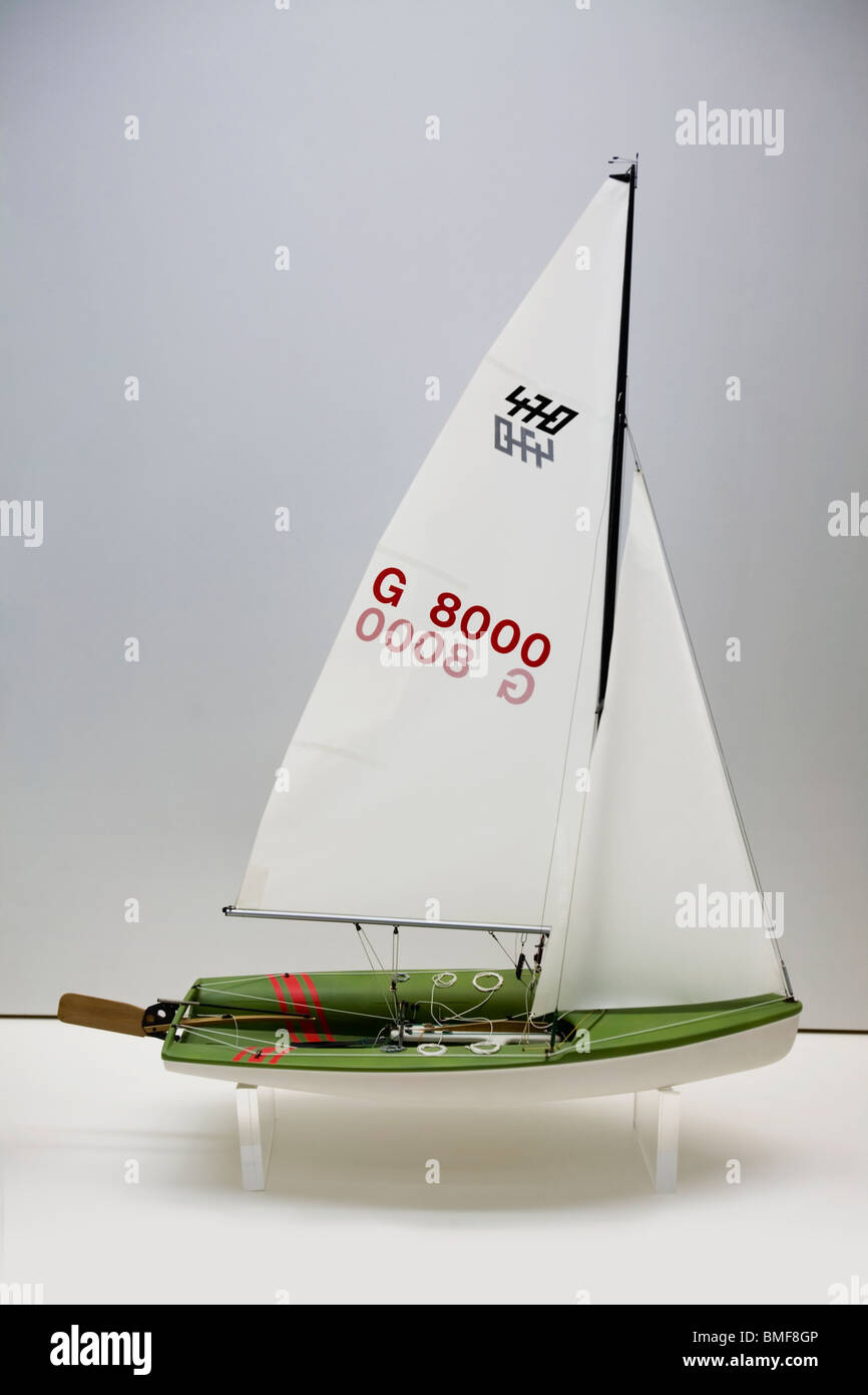 Scale model of a Soling racing Sailboat Stock Photo