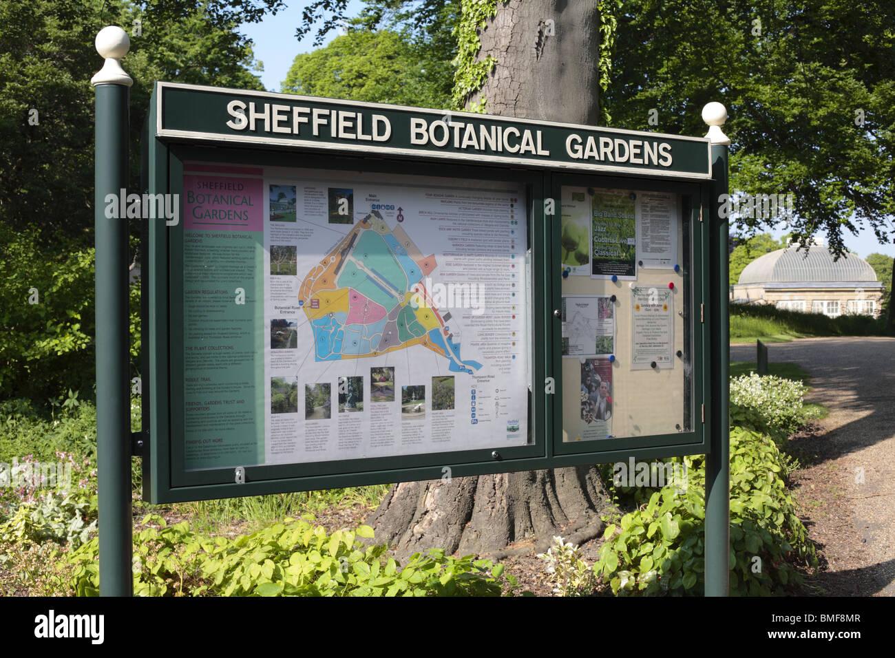 Sheffield Botanical Gardens - Stock Image