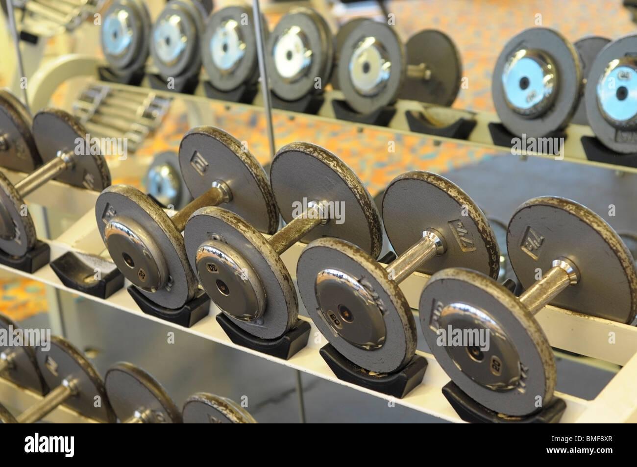 Dumbbells, Bar Bells - Stock Image