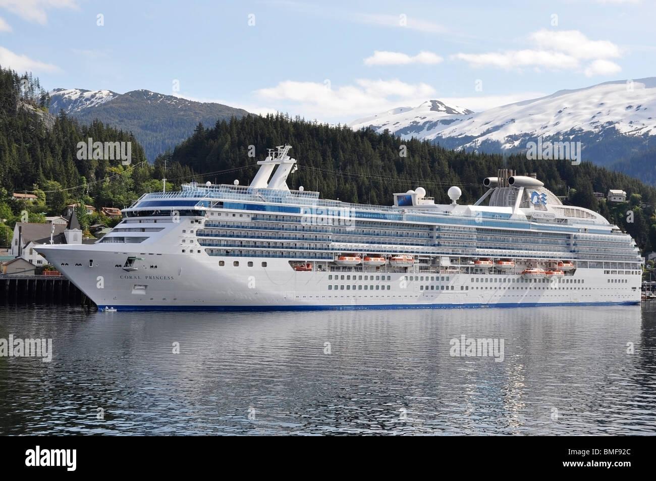 Cruise Ship - Coral Princess, Alaska. - Stock Image