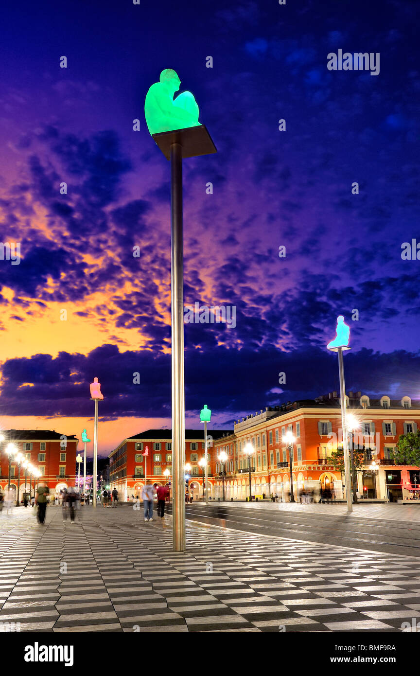 Massena Square, Nice, France. - Stock Image