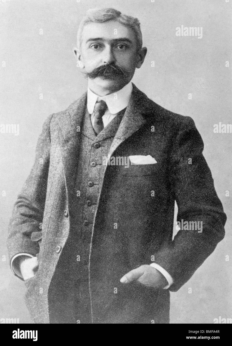 Undated photo of Baron Pierre de Coubertin (1863 - 1937) - founder of the IOC and 'father' of the modern - Stock Image