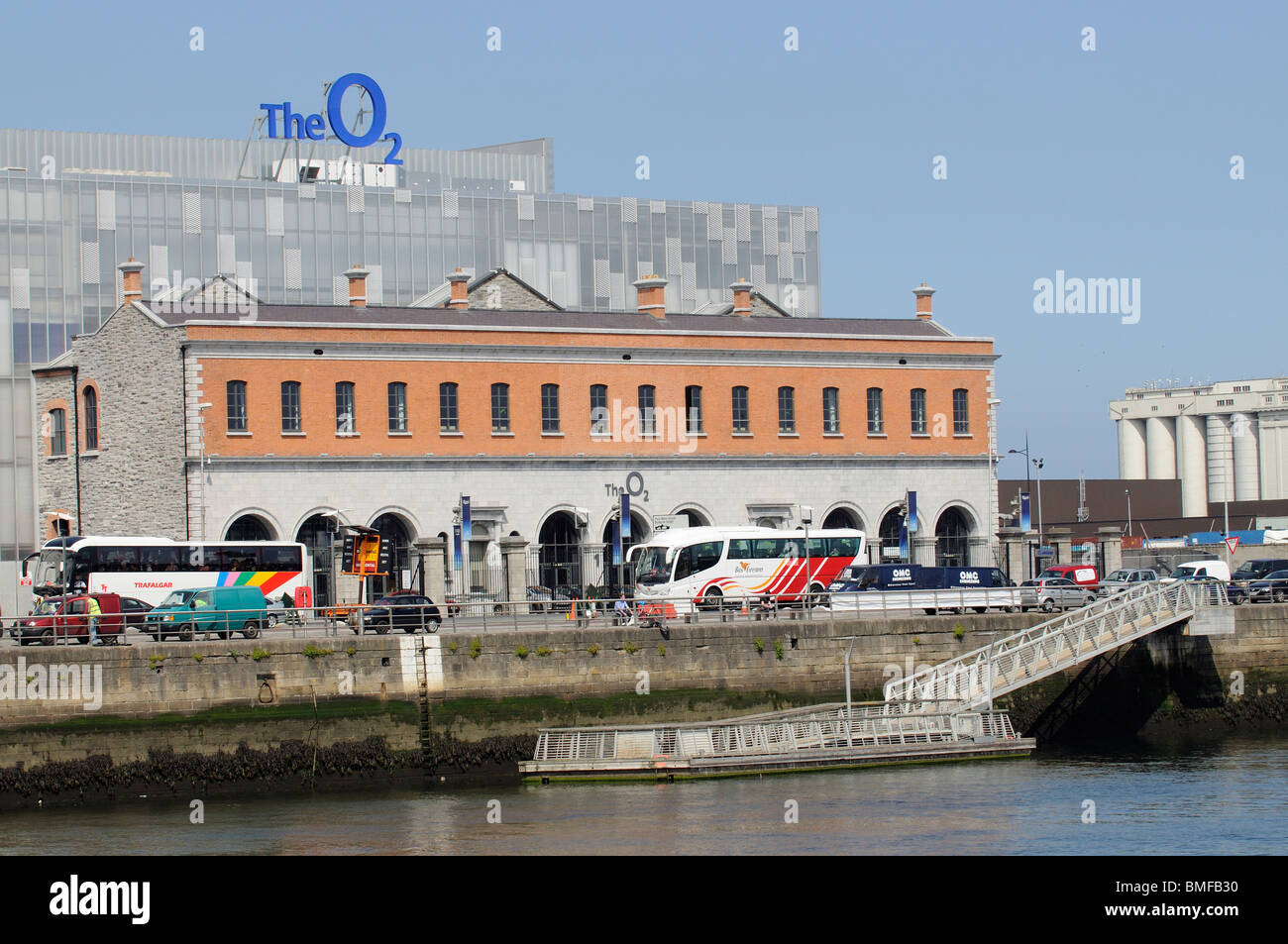 The O2 arena seen from the River Liffey Dublin Ireland - Stock Image