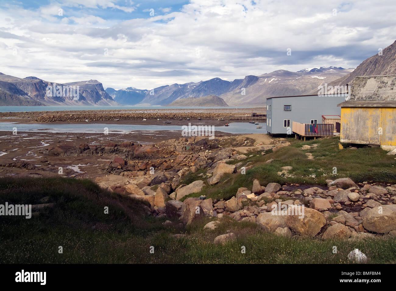 Pangnirtung, Baffin Island, Nunavut, Canada Stock Photo