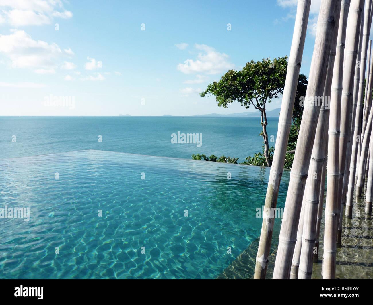 The pool at the Six Senses, Koh Samui Stock Photo