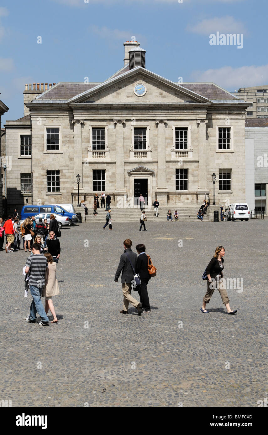 Trinity College Dublin Ireland the Dining Hall building - Stock Image