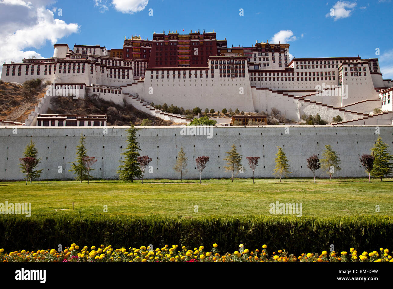 Potala Palace in Lhasa, Tibet - Stock Image