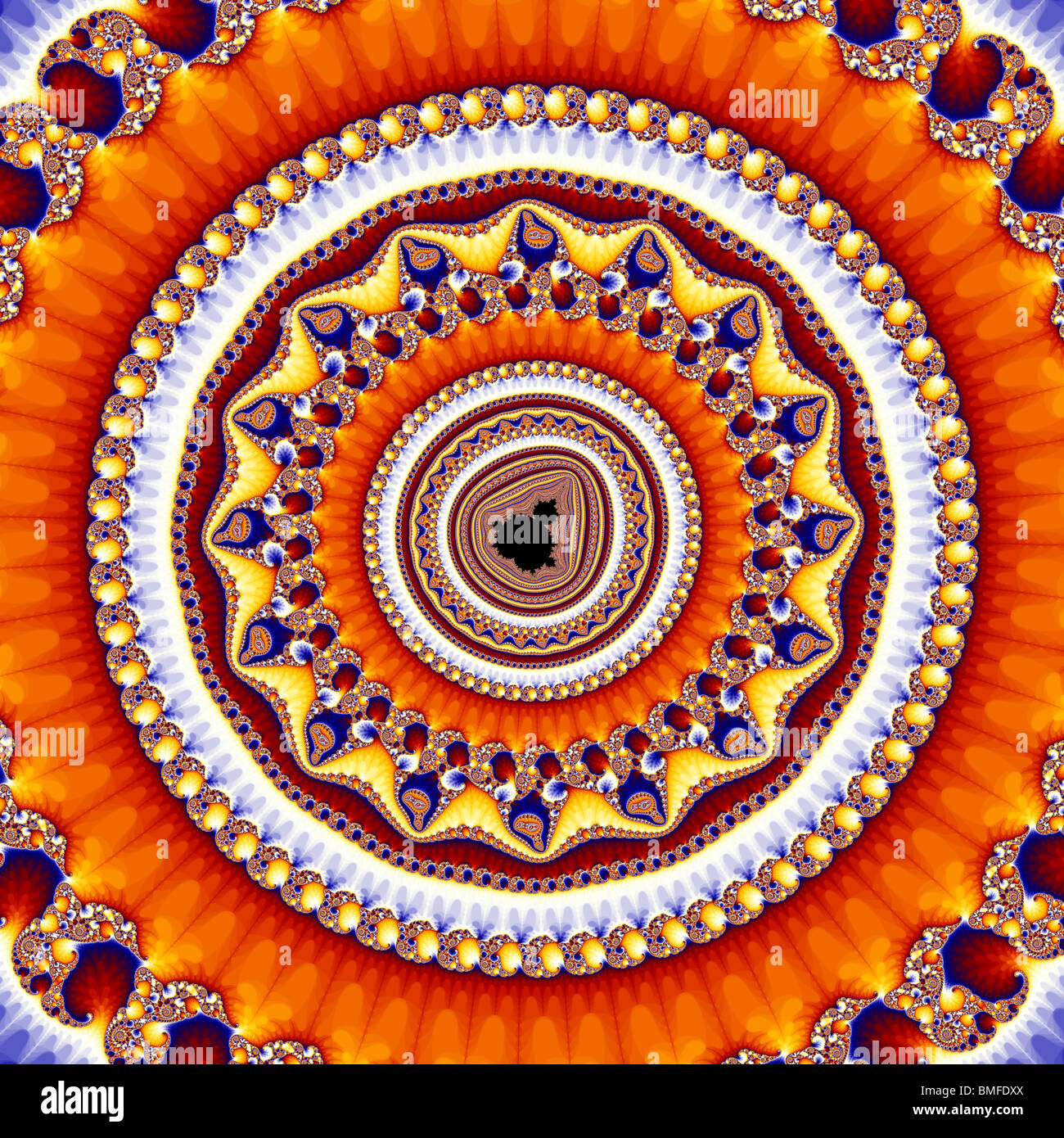A very deep zoom into the Mandelbrot Set. The magnification is 3.5 with 97 zeros after it. - Stock Image