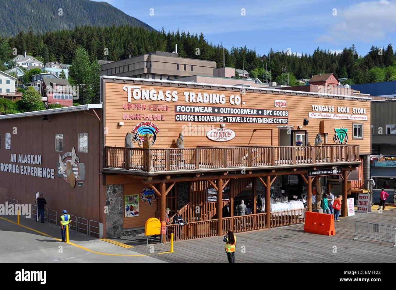 A Store /  Shop in Ketchikan, Alaska. - Stock Image