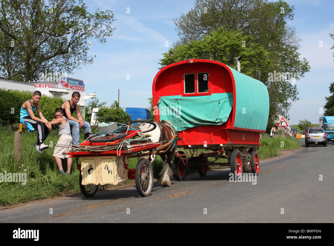 Travellers at the Appleby Horse Fair, Appleby-In-Westmorland, Cumbria, England, U.K. - Stock Image