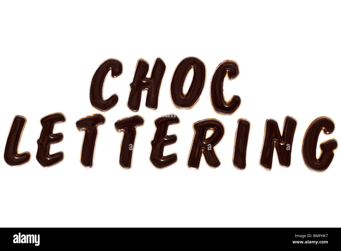 Choc capital lettering - Stock Image