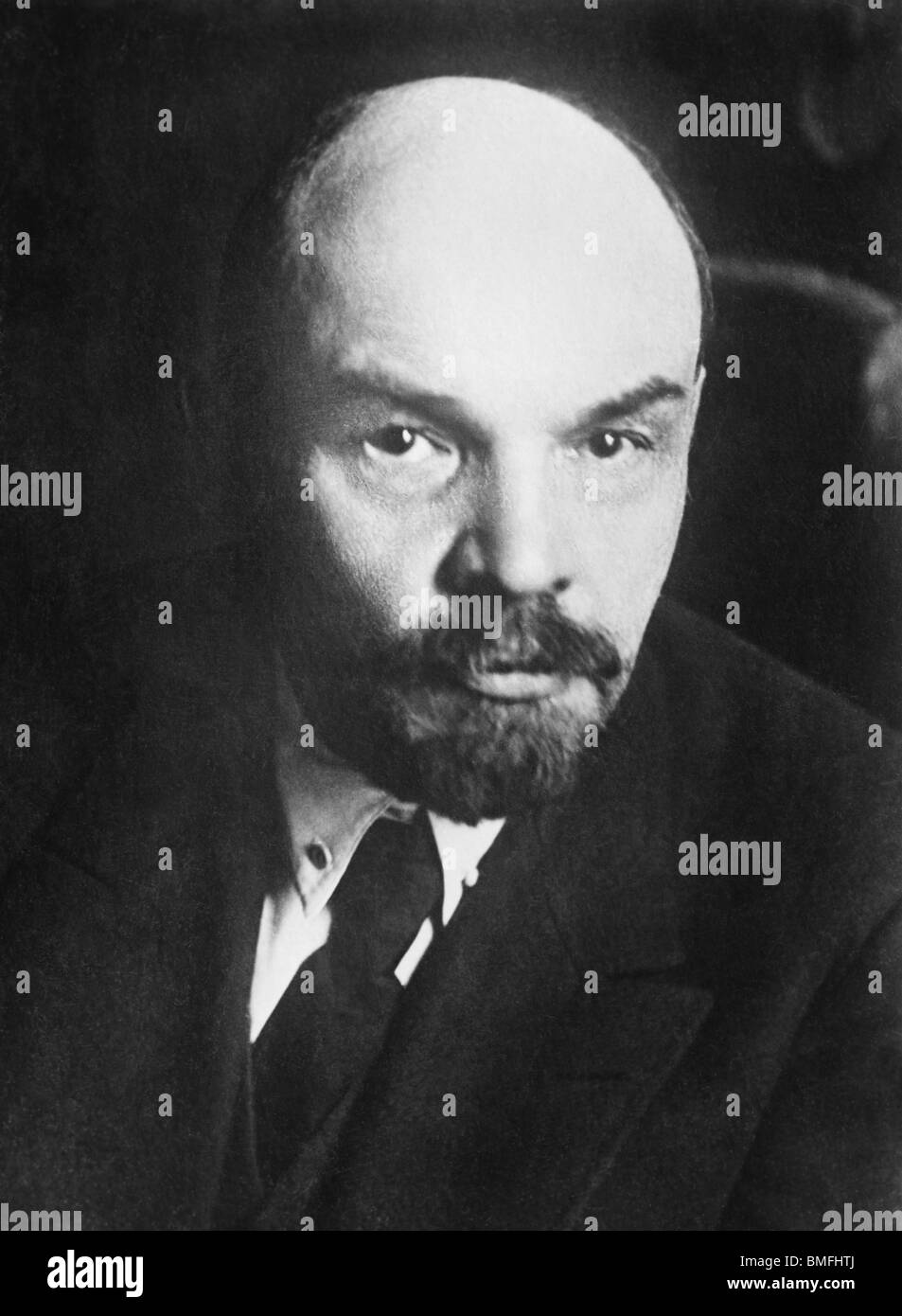 Undated portrait photo of Russian revolutionary and communist leader Vladimir Lenin (1870 – 1924). - Stock Image