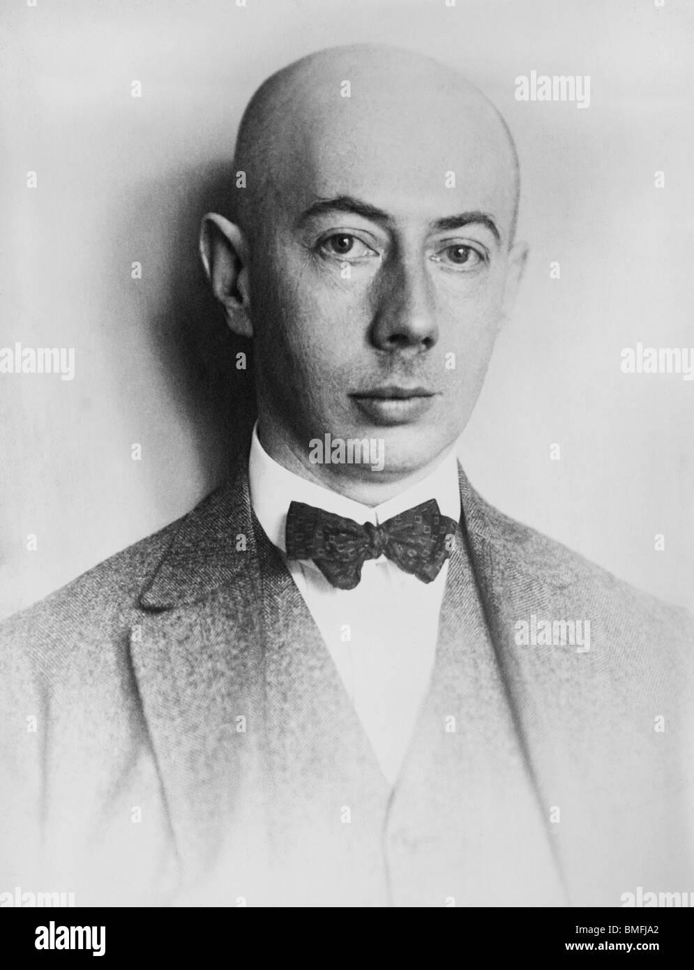Portrait photo circa 1920s of German experimental physicist and Nobel Prize winner Gustav Hertz (1887 - 1975). Stock Photo