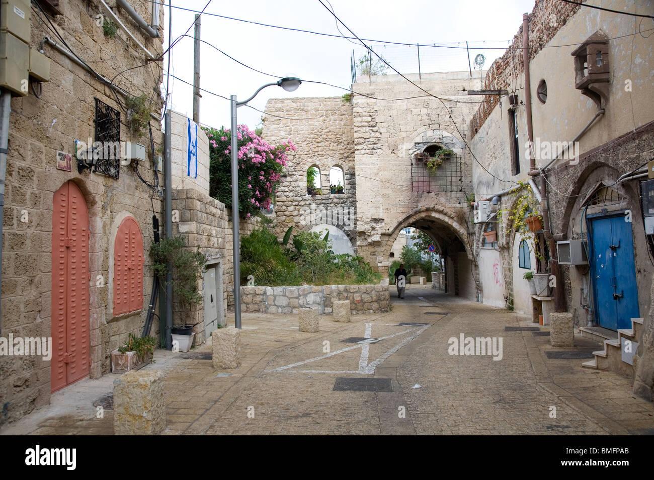 Street in Old Yafo - Stock Image