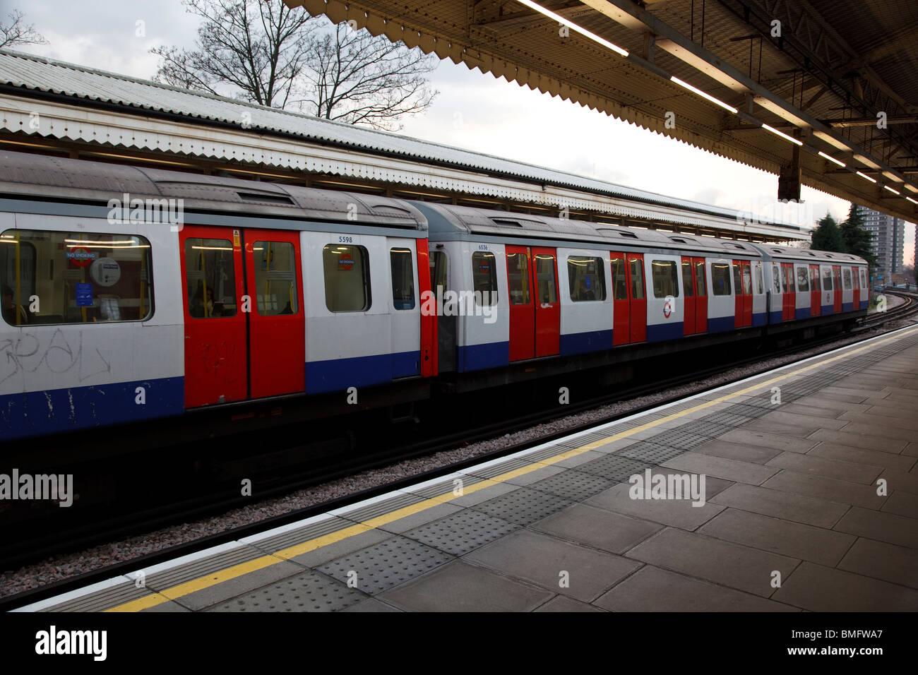 Ladbroke Grove subway station in London Stock Photo