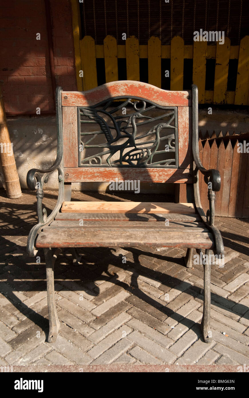 Miraculous Old Lounge Chair In Sunshine Shanghai China Stock Photo Gmtry Best Dining Table And Chair Ideas Images Gmtryco