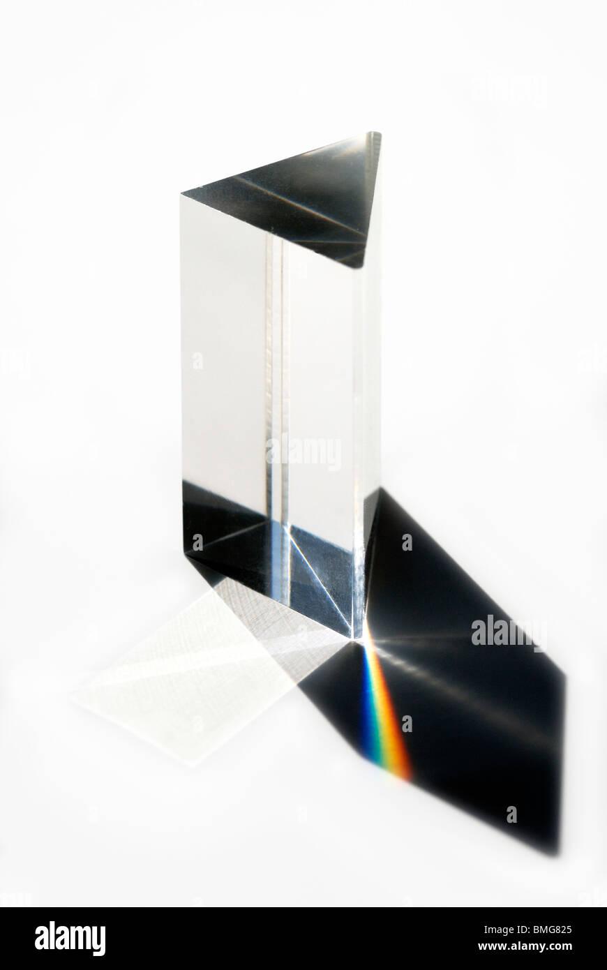 Triangular Prism - Stock Image