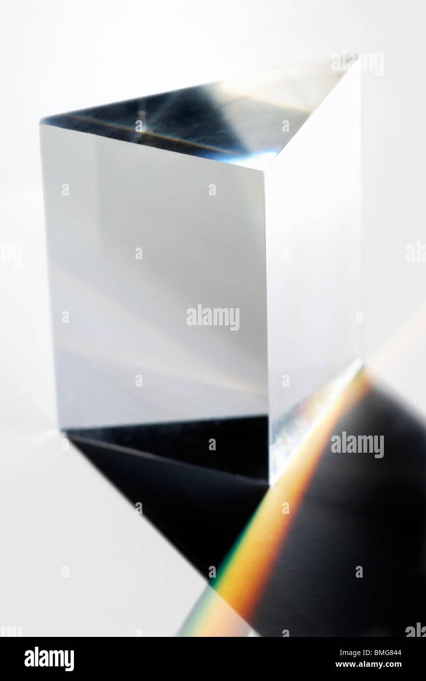 Triangular Prism selective focus - Stock Image
