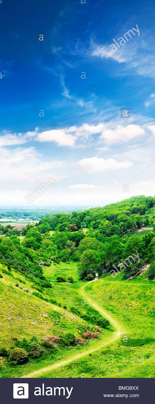 Devil's Dyke landscape countryside - west sussex uk Stock Photo
