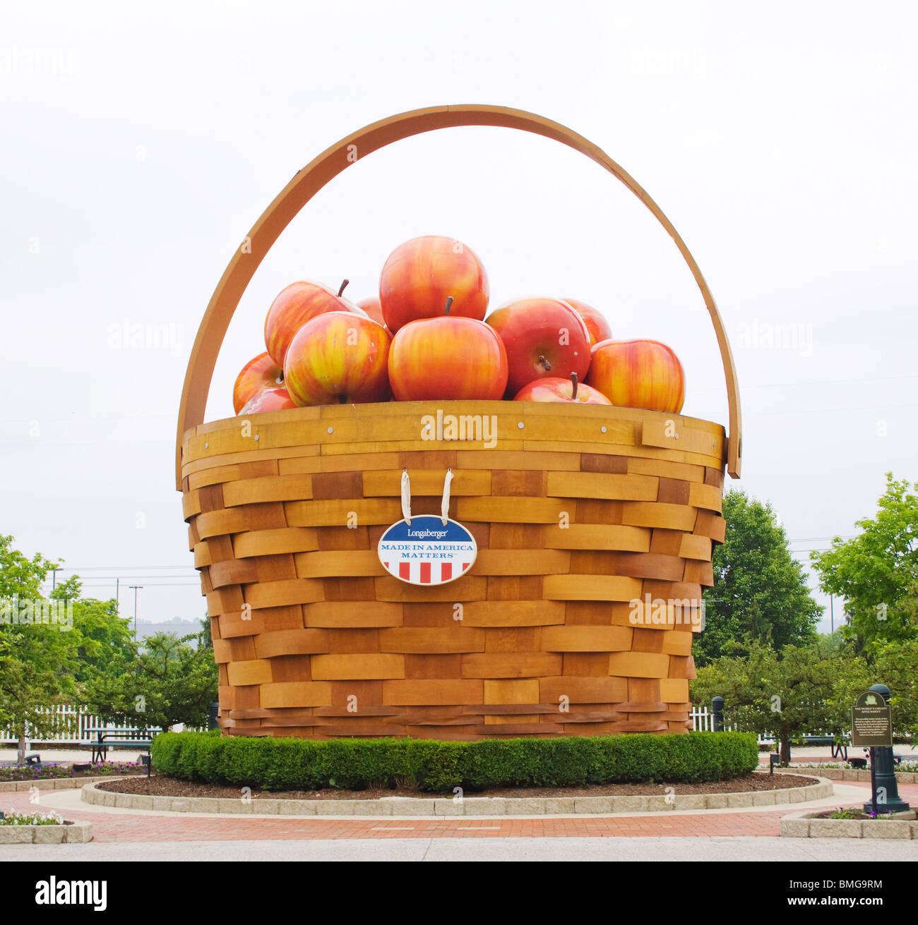 Worlds Largest Basket of Apples in Frazeysburg Ohio Stock Photo - Alamy