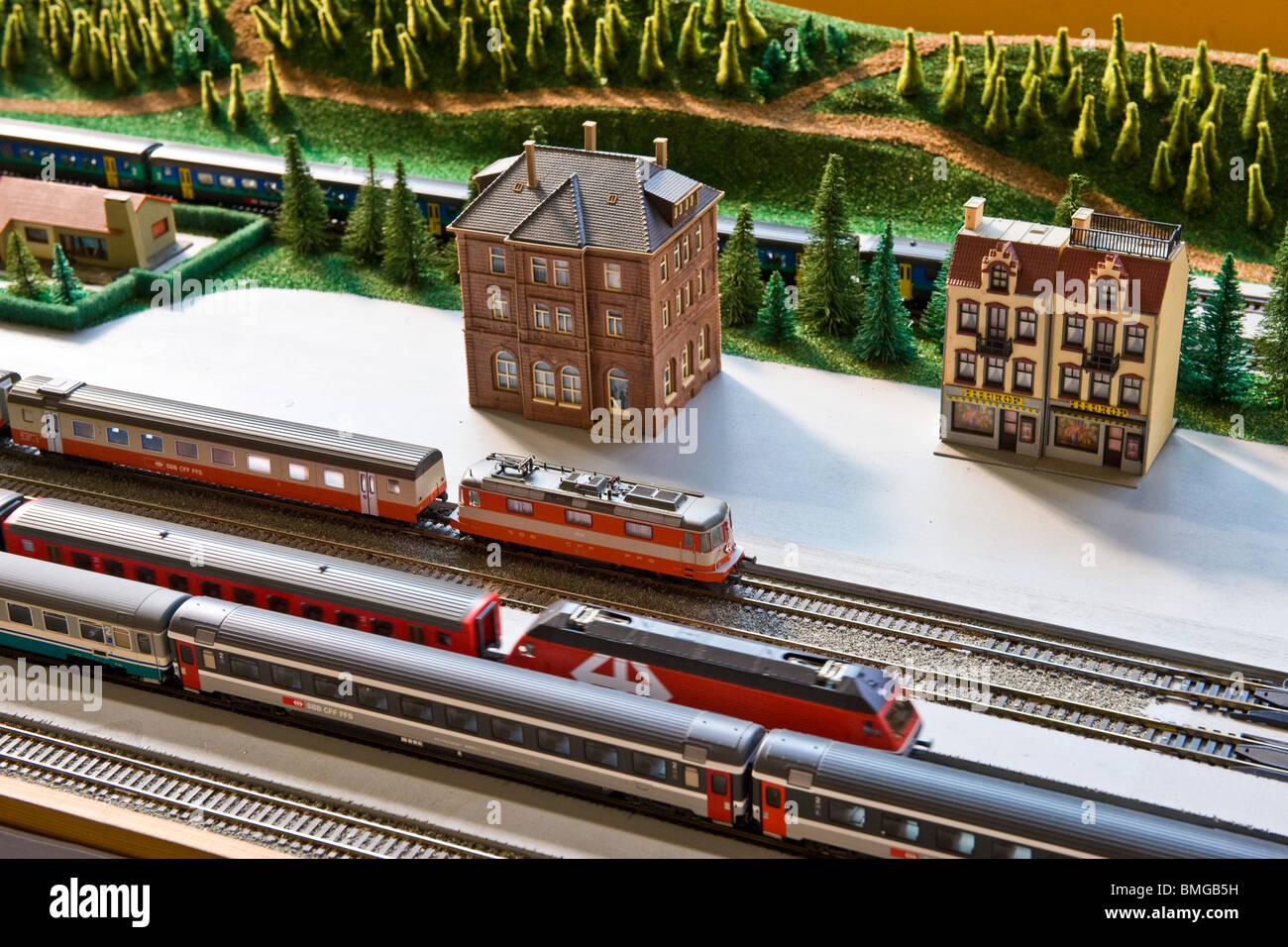 electric train Stock Photo