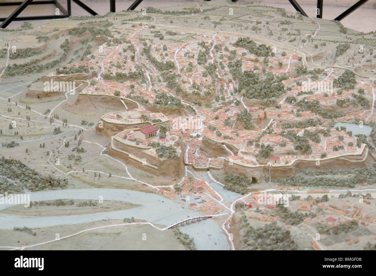 Scale model of archaic Rome [...] - Stock Image