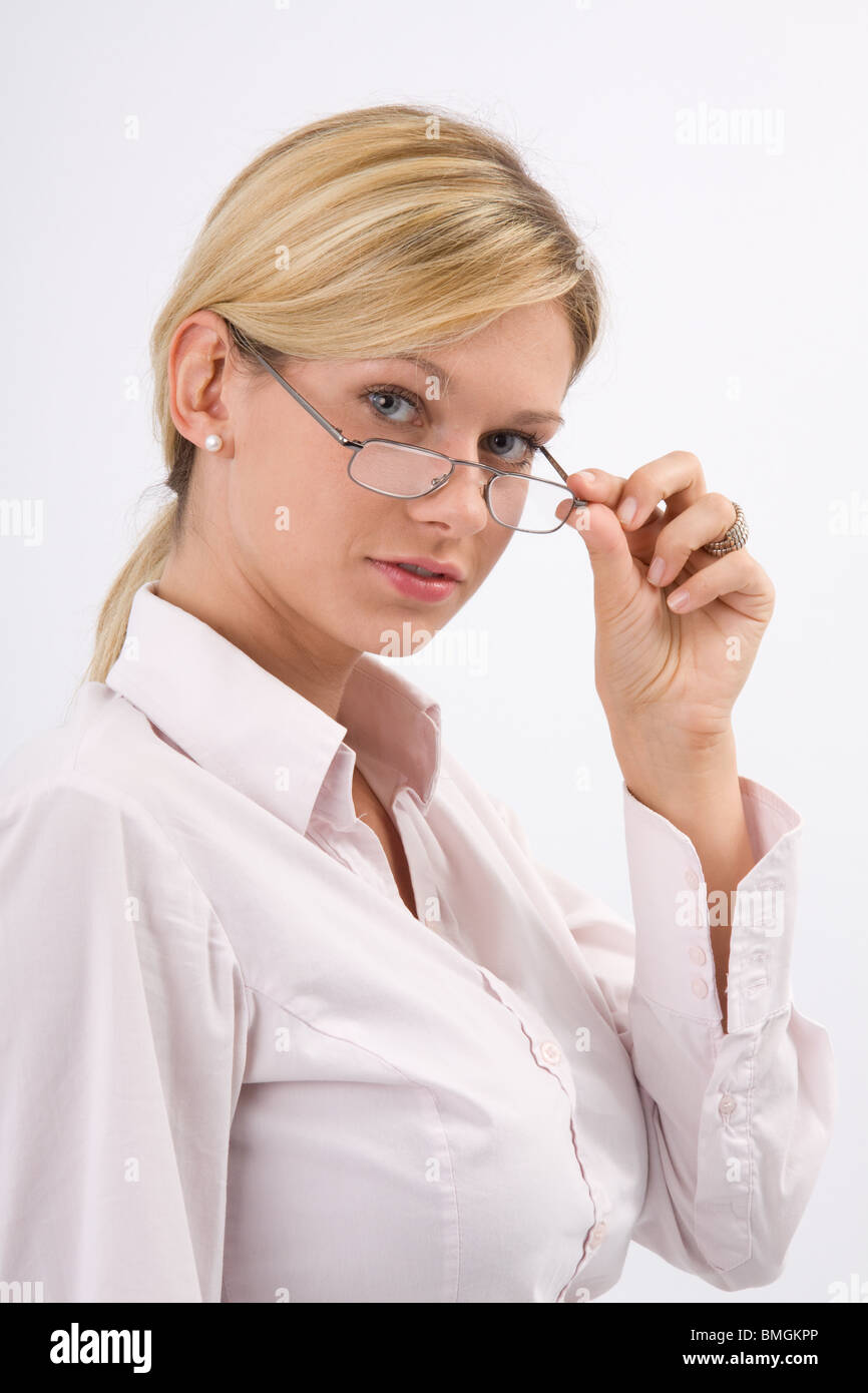 Eva with glasses - Stock Image