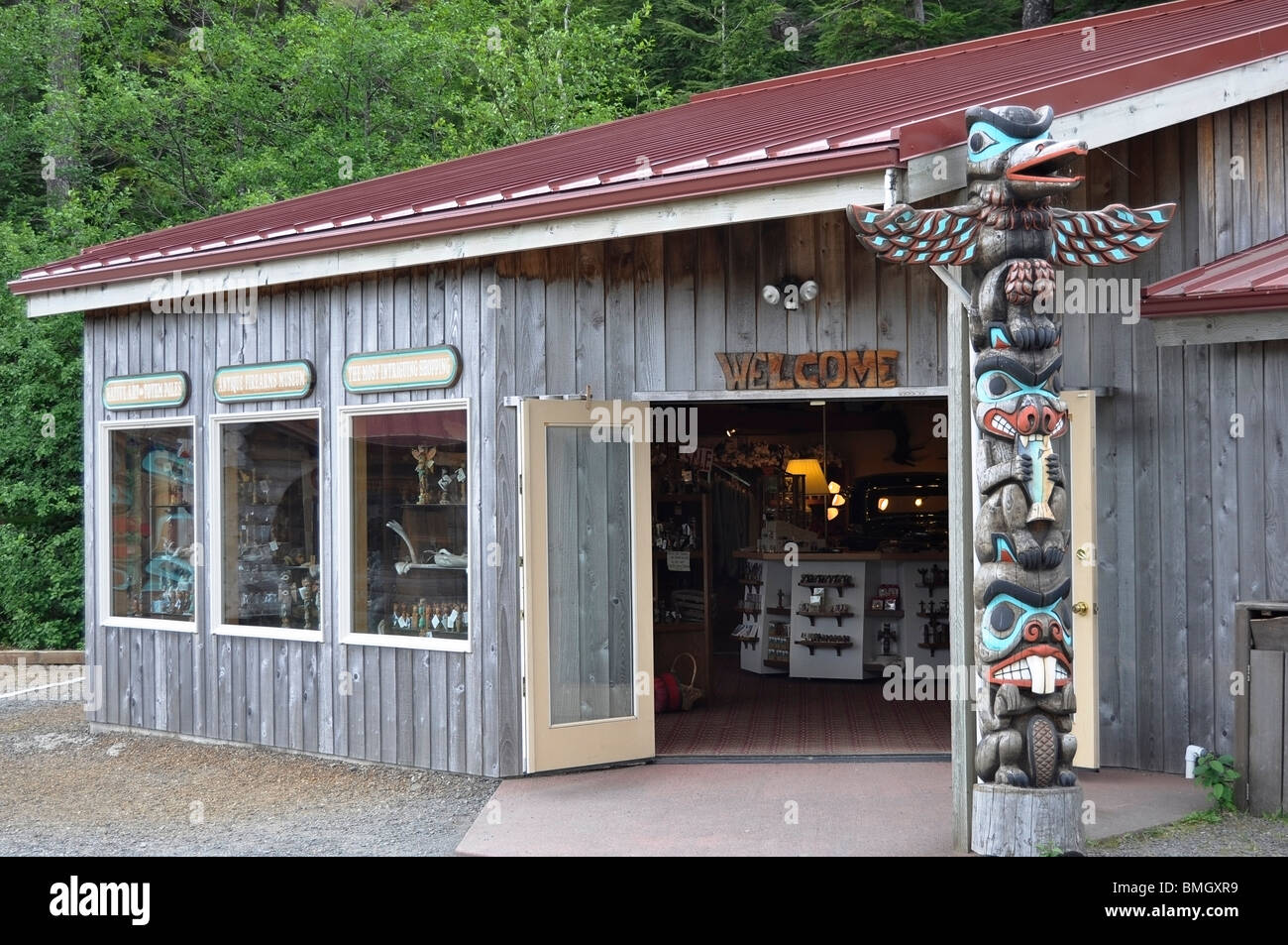 Gifts & Trinkets store and Antique Firearms Museum, Ketchikan, Alaska - Stock Image