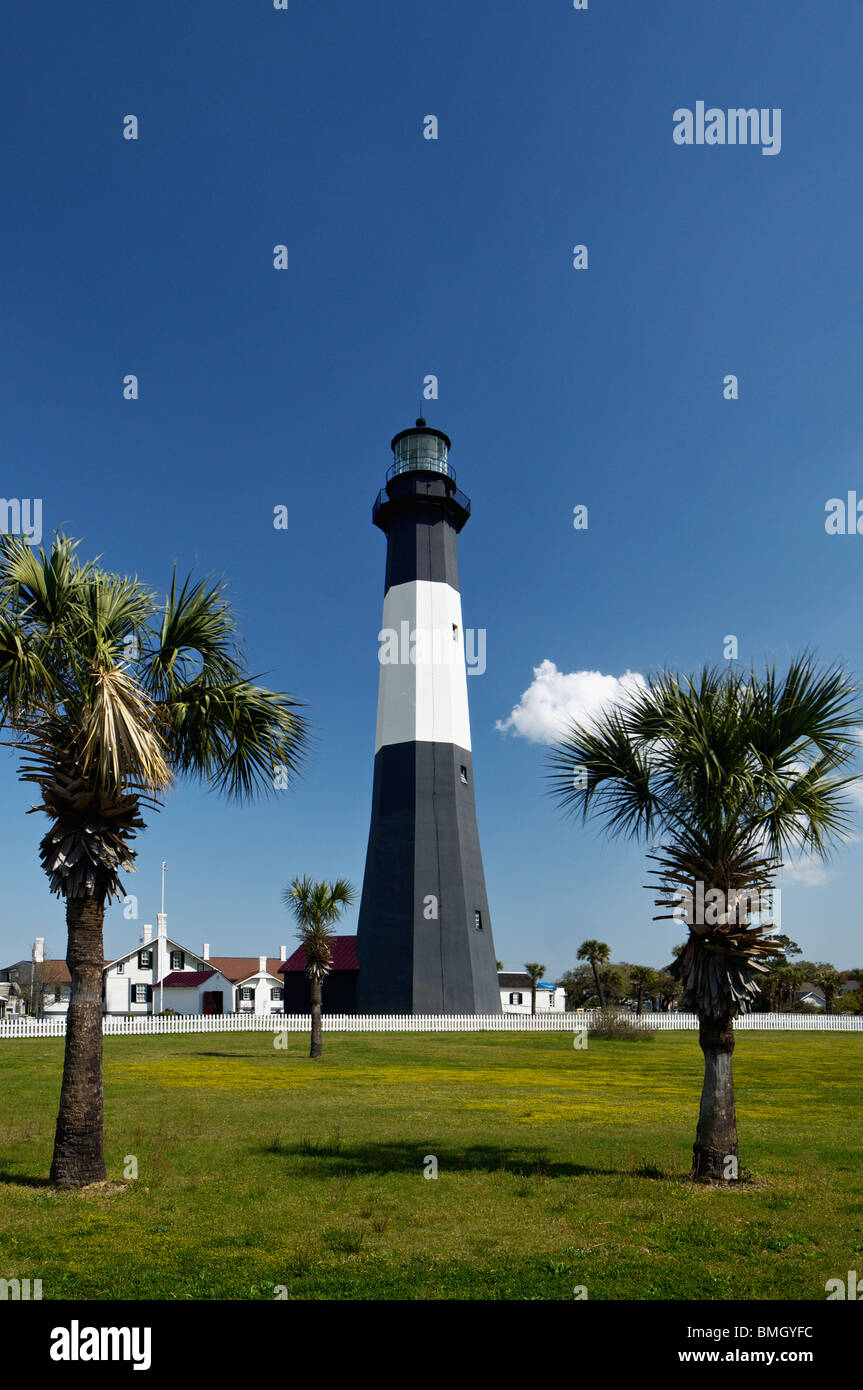 Tybee Island Lighthouse in Chatham County, Georgia - Stock Image