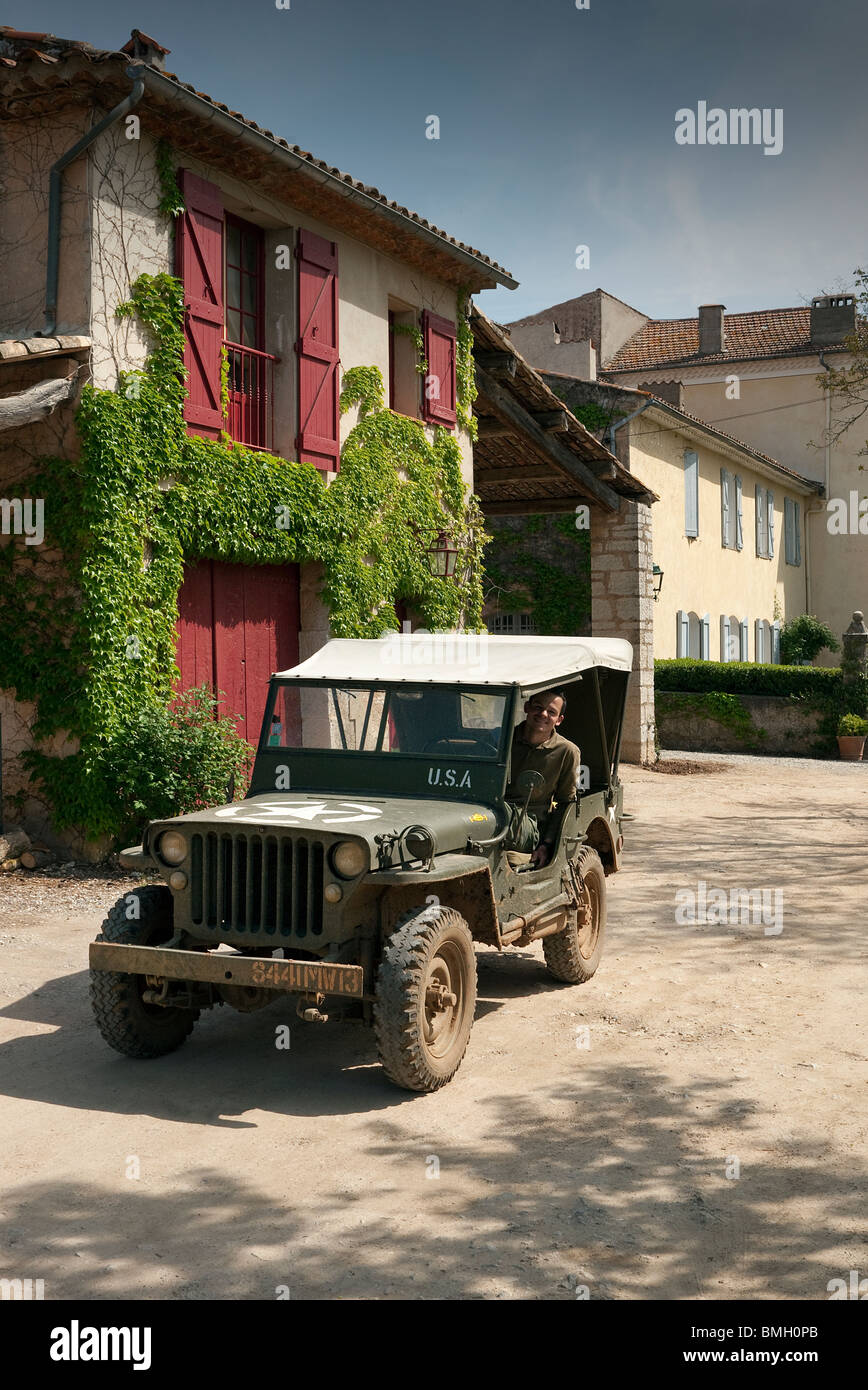 Willy's Jeep in France - Stock Image