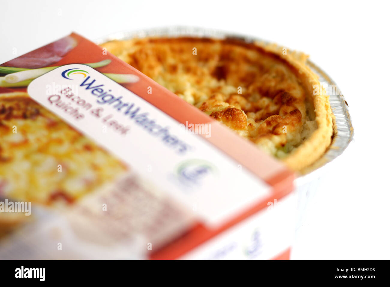 Weight Watchers Bacon and Leek Quiche - Stock Image