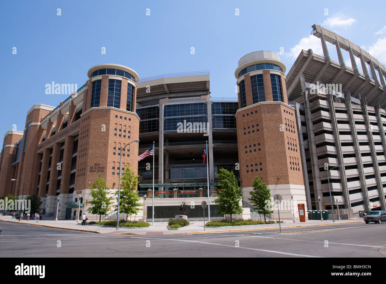Outside of Darrell K Royal longhorn football stadium at University of Texas at Austin - Stock Image