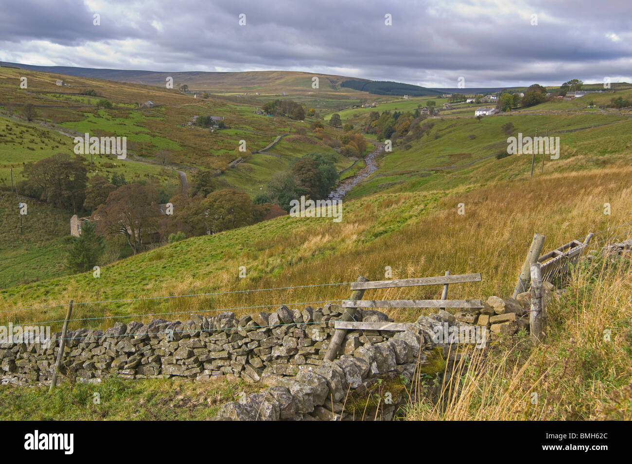 Upper Teesdale, Alston, Northern Penines, England, October, 2009 - Stock Image